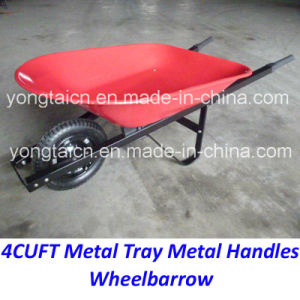 America 4cuft Meta Tray Metal Handles Wheelbarrow for Gardenning pictures & photos