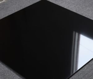 60x60cm Super Black Polished Porcelain Floor Tiles E36801a