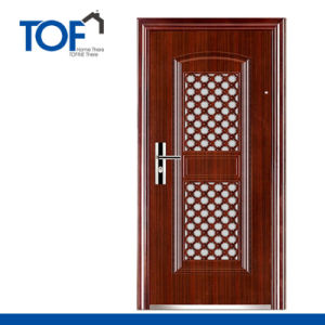 Decorated High Quality Exterior Security Steel Door