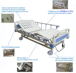 Factory Price Remote Control Double Functions electric Patient Bed pictures & photos