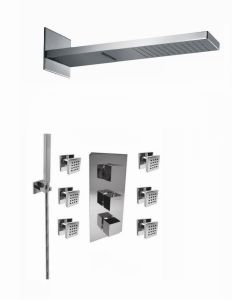 4 Functions Wall Mounted Waterfall and Rainfall Shower Set pictures & photos