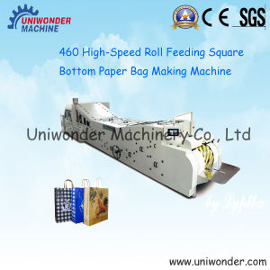 Low Price Roll Feeding Square Bottom Paper Bag Making Machine