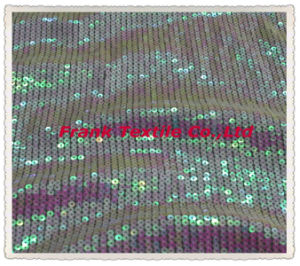 Sequin Embroidery on Mesh -Flk158