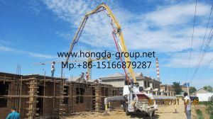 Hongda Group 32m Truck-Mounted Concrete Pump with Boom pictures & photos