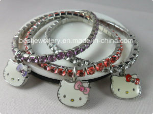 Fashion Jewelry-Elastic Hello Kitty Bracelet