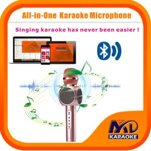 Multi Karaoke Player Portable Wireless Bluetooth Microphone Home Mini Karaoke Player KTV Singing Record for iPhone Smart Phone Tablet PC Laptop
