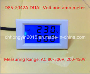 D85-2042A 70*40 Hot Sell Dual AMP and Volt Meter with Cover pictures & photos