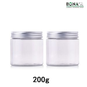 200g Best Selling Clear Pet Jar Cosmetic packaging Jar pictures & photos