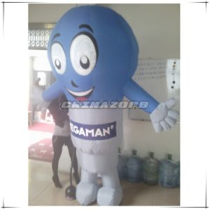Custom Made Bulb Shaped Inflatable Walking Cartoon