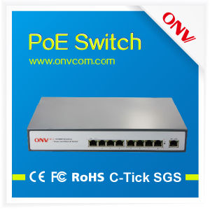 High Quantity 10/100 Poe Switch with 8 Poe Ports and 1 Uplink