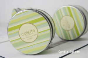Green Fragrance Oil Candle Tin for Travel pictures & photos