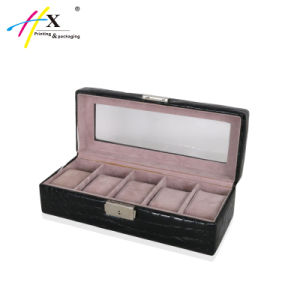 5 Slots Wooden Watch Boxes Cases for Watch Collector