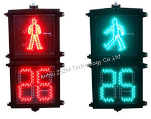 Top Quality 200/300/400mm Pedestrian Traffic Light with LED Countdown Timer pictures & photos