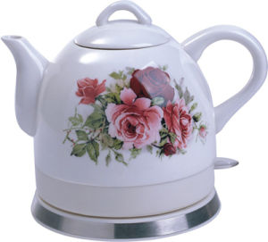 Ceramic Cordless Electric Water Kettle (HY-1080 Rose)