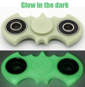 Bat Shaped Neon Plastic Fidget Hand Finger Spinners