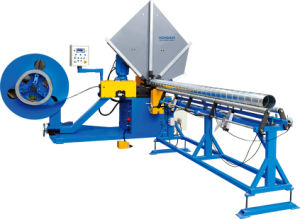 Spiral Tube Forming Machinery with Roll Slitter Cutter