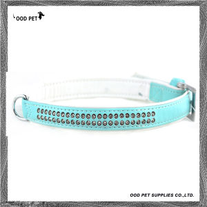 Baby Blue Crystal Rows Pet Products, Pet Collars ,Dog Collar (SPC297-1) pictures & photos