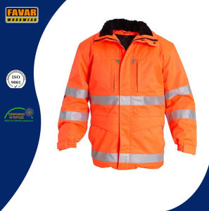Hi Vis Padded Winter Jacket with Reflector Tape Winter Workwear