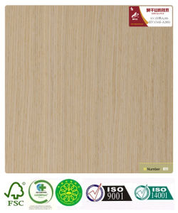 Oak Recomposed Reconstructed Wood Veneer (A28S) with Fsc Certificated