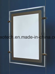 Double Sided Ceiling Hanging Window Displays LED Magnetic Light Pockets pictures & photos