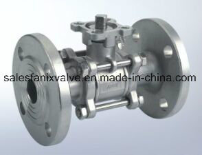 3PC Type Ball Valve with Flange (with high mounting pad)