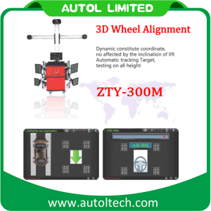 New 3D Wheel Alignment Machine Price Zty-300m Automatic Better Than Launch X-631+ Wheel Alignment pictures & photos