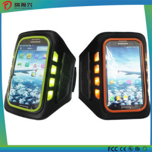 out Door Sport Rechargeable LED Armband Phone Case with Ce/RoHS