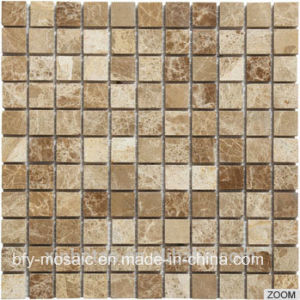 Cheap Price Polished Natural Stone Marble Mosaic Tile on Mesh (FYSC112-1)