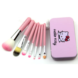 9f3ad92e7 China Cute Quality Hello Kitty 7PCS Beauty Cosmetic Brush Set ...