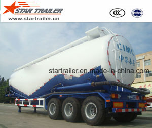 3 Axles 55 Cbm Cement Transport Tanker Trailer pictures & photos