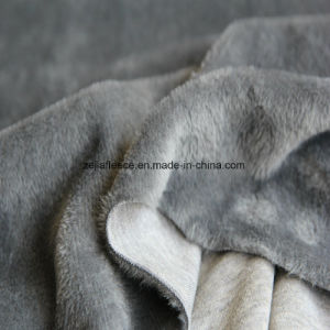 Super Soft Short Plush in Grey Color pictures & photos