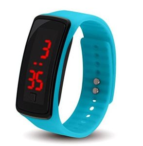 Colorful Gel Rubber Wrist Strap Digital LED Sport Watch pictures & photos