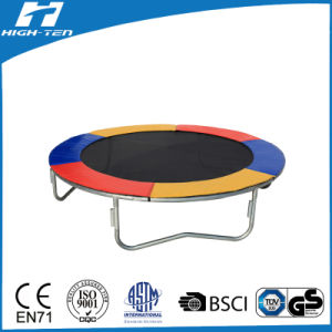 8FT Trampoline with Colorful PVC Frame Pad, Trampoline Without Enclosure