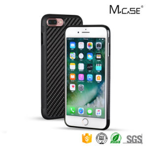 Skidproof Full Covered Phone Case Elegant Carbon Fiber Cover for iPhone 7 Plus Cover TPU PC pictures & photos