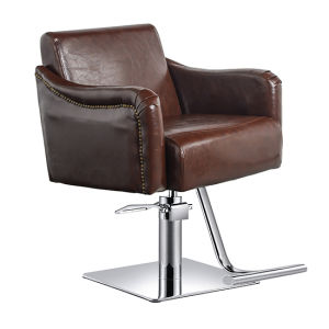 Coffee Color Hydraulic Barber Chair Hair Beauty Salon Equipment pictures & photos