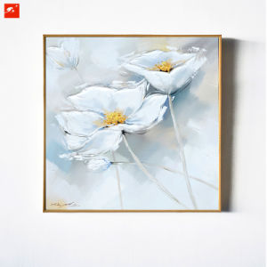 China 2 pieces white flower handmade oil painting on canvas china 2 pieces white flower handmade oil painting on canvas mightylinksfo