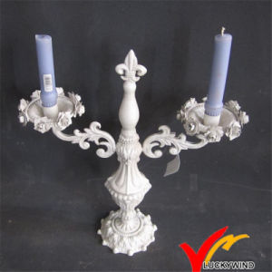 Luckywind Vintage Antique White Iron Candelabras pictures & photos