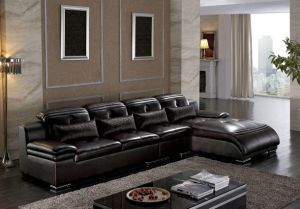 Home Furniture Living Roos Sofa Geniune Leather Sofa Sets pictures & photos