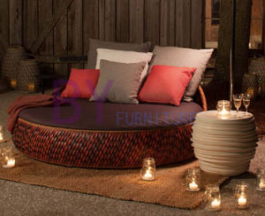 Creative New Customized Outdoor Garden Courtyard Rattan Daybed