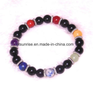 Natural Fashion Crystal Tiger Eye Amethyst Beaded Jewelry Chakra Bracelet Bangle pictures & photos
