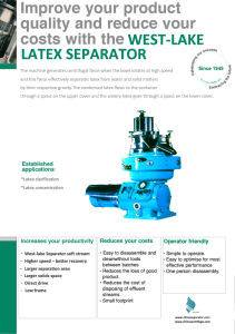 Latex Centrifuge pictures & photos