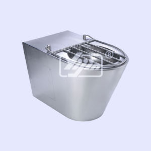 Hand Made Stainless Steel T-304 Toilet Bowl W/Wire Grid