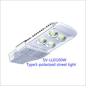 100W Bridgelux Chip LED Street Lamp with Inventronics Driver (Polarized)