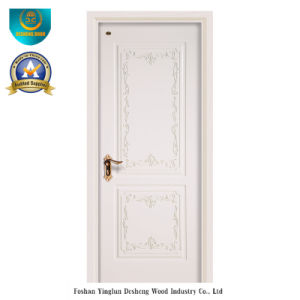 Simplified European Style HDF Door for Interior with Carving (ds-052) pictures & photos