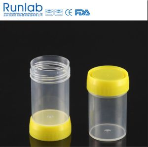 60ml Specimen Container with Dual Threaded Cap pictures & photos