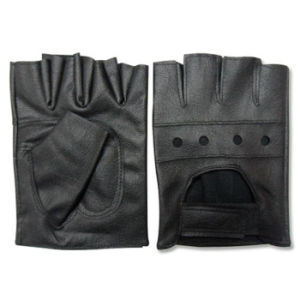 Back To Search Resultsapparel Accessories New Fashion Men Leather Fingerless Black Driver Gloves Driving Motorcycle Bike Warm Mitten Gloves