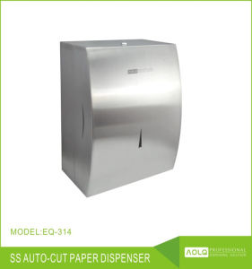 Hotel Wall Mounted Stainless Steel Paper Dispenser Auto Cut Towel
