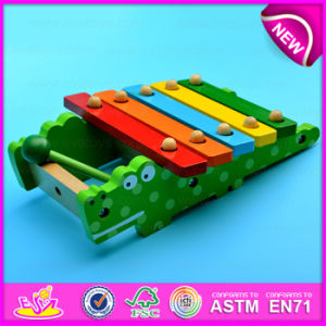 Crocodile Design Wooden Xylophone Musical Instruments Toy, New Non-Toxic Lovely Wooden Toy Xylophone Wholesale W07c039 pictures & photos