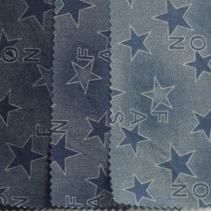 Twill Printed Knitted Denim Fabric for Women′s Clothes pictures & photos