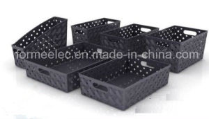 Design Fruit Basket Mould Manufacture Plastic Mold Turnover Box Crate pictures & photos